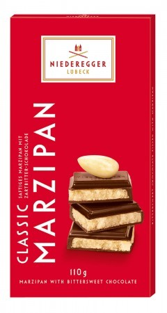 Niederegger 100g Classic Plain Chocolate Marzipan Bar