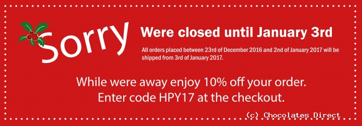 were closed for christmas and new year - Closed For Christmas