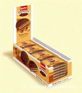 Tortina chocolate wafer 21g