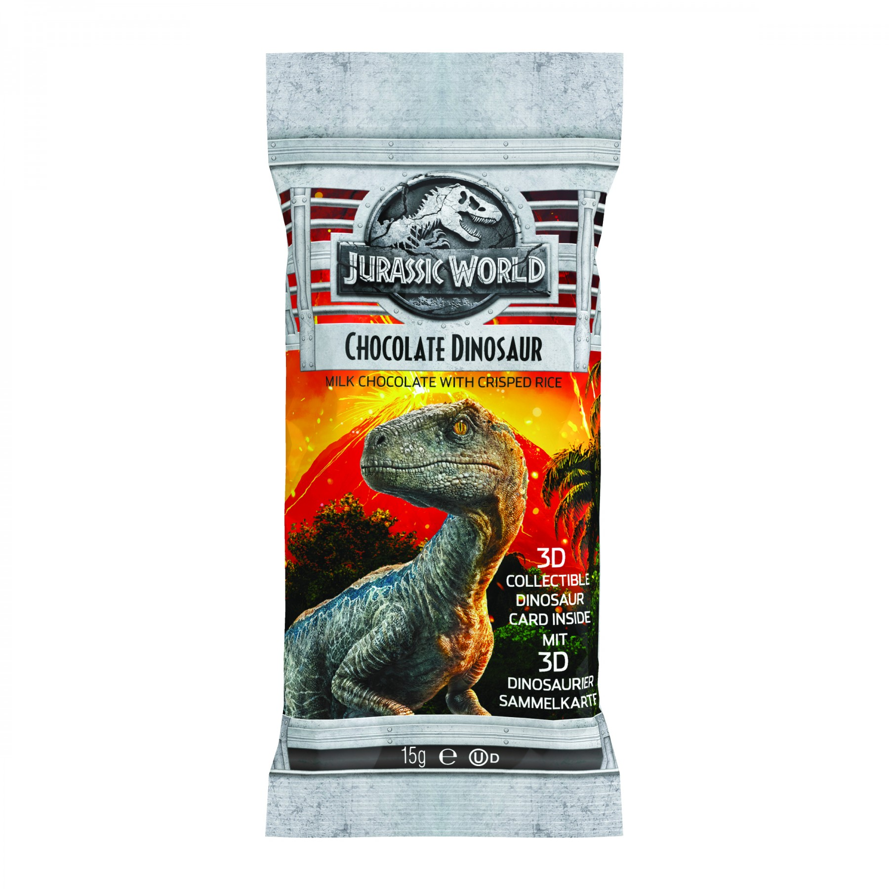 Jurassic World Chocolate Dinosaur with 3D collectable card
