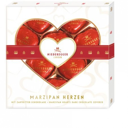 Niederegger Marc de Champagne Marzipan Hearts Box 125g NOW 25% OFF